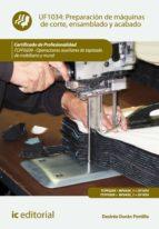 Preparación de máquinas de corte, ensamblado y acabado. TCPF0209 (ebook)