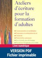 Ateliers d'écriture pour la formation d'adultes (ebook)