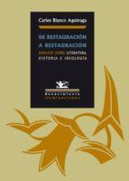 De Restauración a Restauración (ebook)