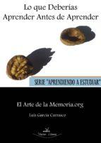 LO QUE DEBERÍAS APRENDER ANTES DE APRENDER (ebook)