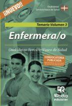Enfermera/o de Osakidetza-Servicio Vasco de Salud. Temario. Volumen 3 (ebook)