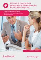 Gestión de la prevención de riesgos laborales en pequeños negocios. COMT0112  (ebook)
