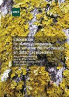Elaboración de planes y programas de formación del profesorado en didácticas especiales (ebook)